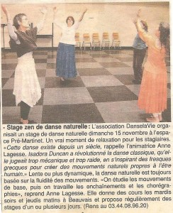 Stage danse, Beauvais